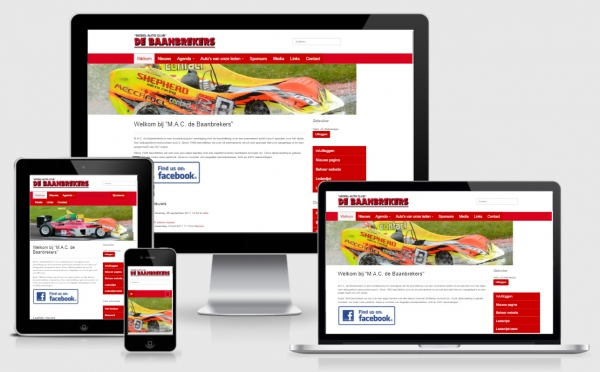 Nieuwe full-responsive website M.A.C. de Baanbrekers
